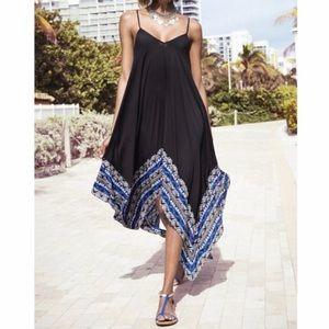 Express Resort Black Maxi Summer Swing Tent Dress